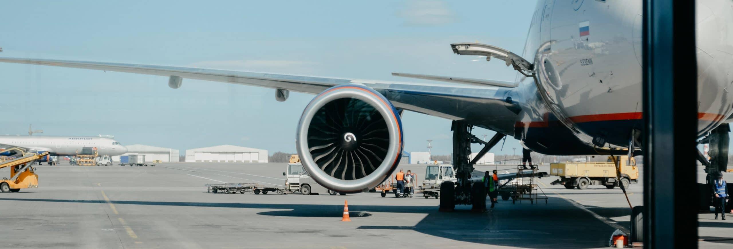 Jumbo Jet on runway